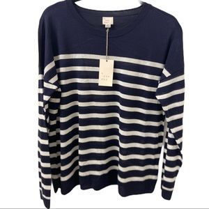 A NEW DAY Women's' Navy  Long Sleeve Sweater -L